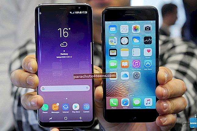 """Samsung Galaxy S8"" ir ""iPhone 7"""