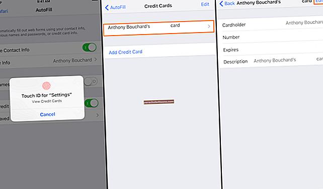 Luottokorttitietojen muokkaaminen tai poistaminen Chromen automaattisesta täytöstä