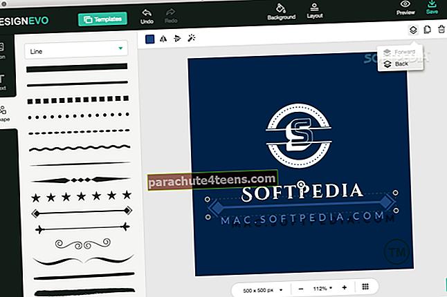 """DesignEvo Logo Maker"" programa, skirta ""Mac"""