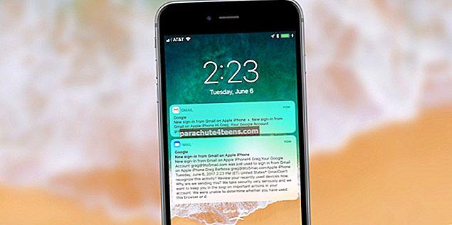 Gmaili tõukemärguanded ei tööta iPhone'is ega iPadis