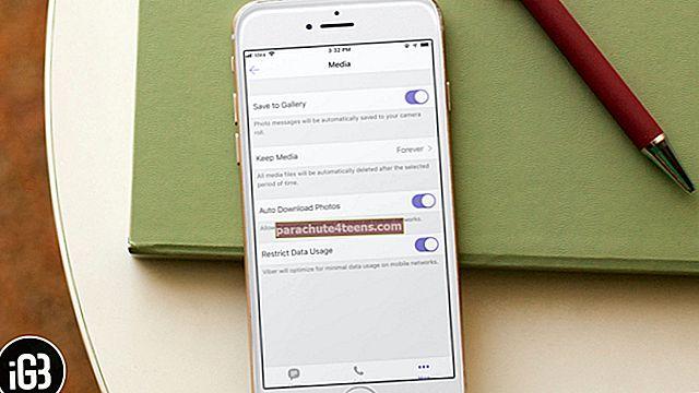 Kuidas laadida Viberi videoid ja fotosid iPhone'i kaamerarulli