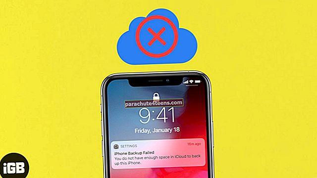 iCloudi varundamine ebaõnnestus iPhone'is või iPadis? Siin on põhjused ja lahendused