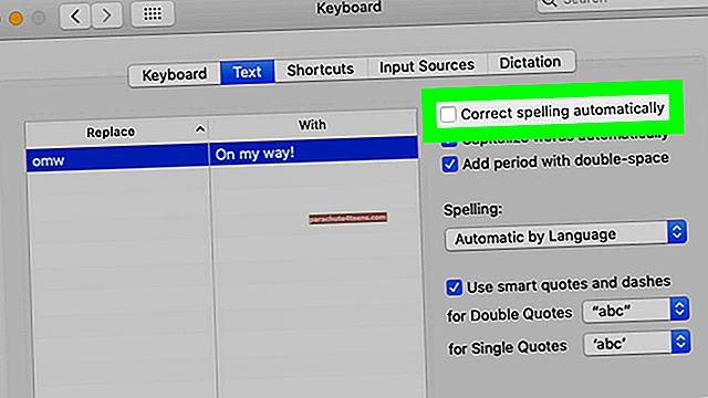 Automaatkorrigeerimise õigekirja väljalülitamine Macis