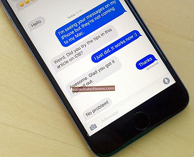 IMessage-puhelinnumeron vaihtaminen iPhonessa