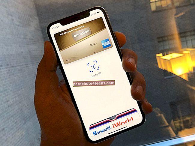 Apple Payn käyttäminen iPhone X Face ID: ssä