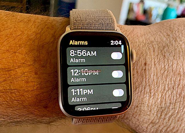 Hälytyksen asettaminen Apple Watchiin