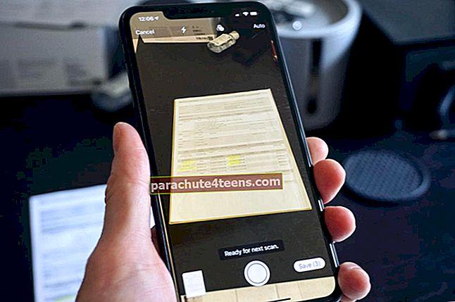 Kuidas skannida dokumente rakendusega Failid rakenduses iPhone ja iPad