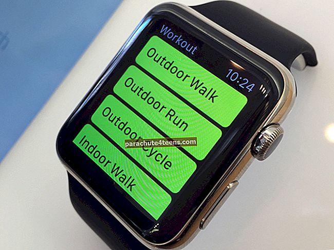 Kuidas vaadata treeninguid rakenduses Activity iPhone'is