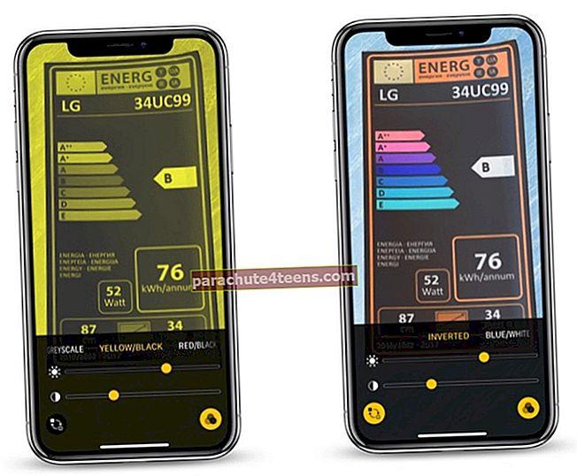 Suurennuslasin käyttäminen iPhonessa ja iPadissa