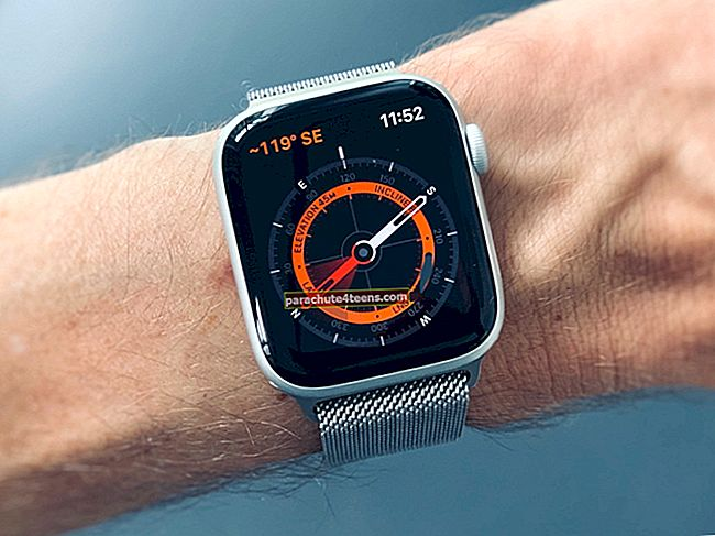 Kompassin käyttäminen Apple Watch Series 5: ssä