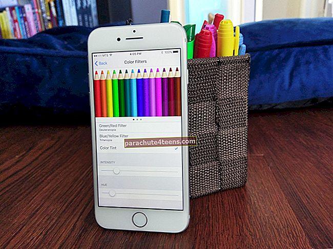 Värisuodattimien käyttäminen iPhonessa ja iPadissa