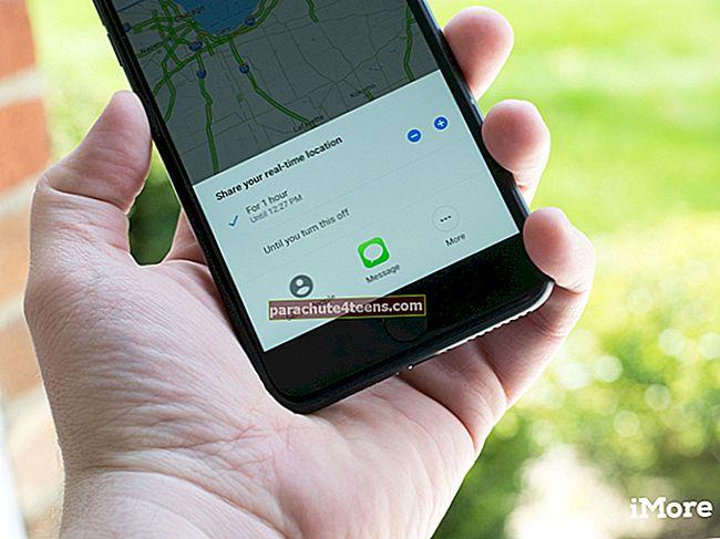 Kuinka jakaa sijaintia Google Mapsissa iPhonessa