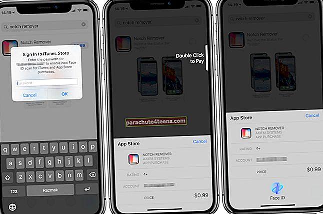 Kuidas osta iPhone'ist rakendusi Face ID abil