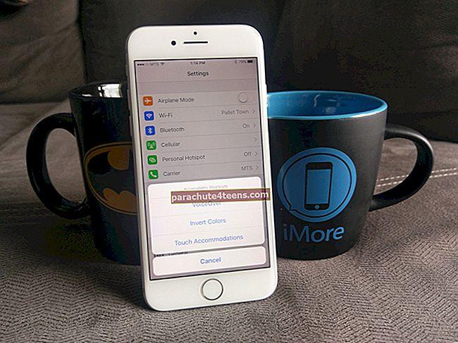 Juurdepääsetavuse otsetee kasutamine iPhone'is ja iPadis