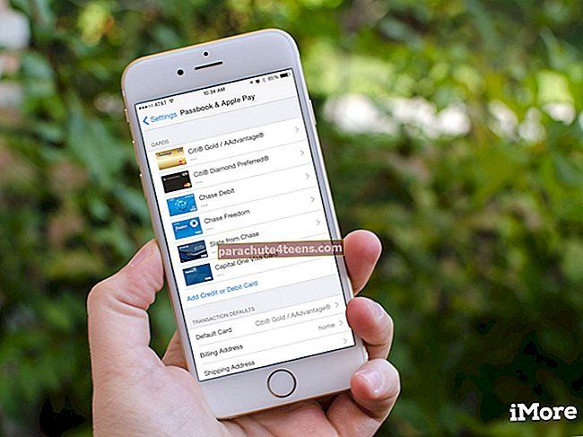 Krediitkaardi eemaldamine Apple Payst