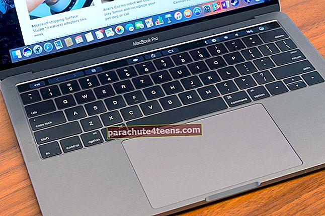 Toimintonäppäinten käyttäminen MacBook Prossa kosketuspalkilla