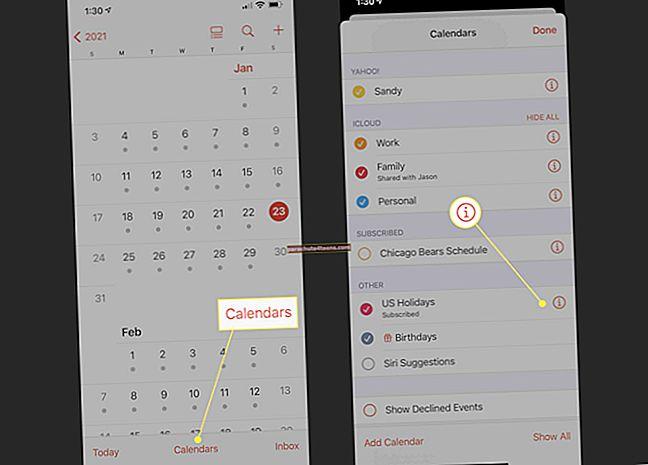 Ehdotetun tapahtuman poistaminen käytöstä iPhonen kalenterissa
