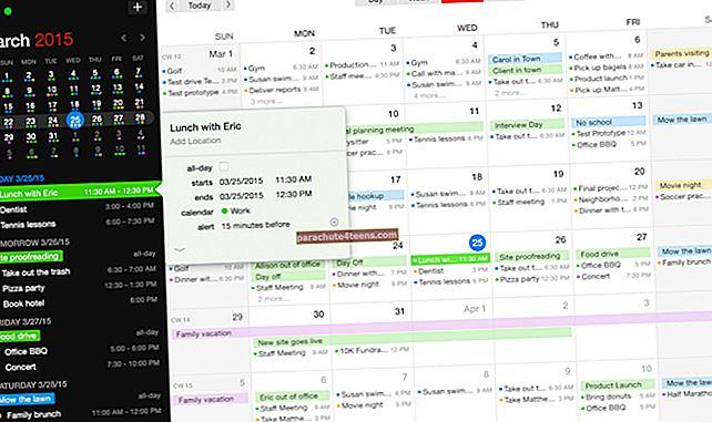 Parhaat kalenterisovellukset Macille vuonna 2021