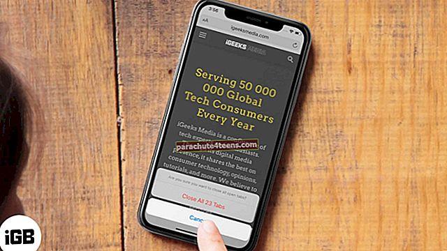 Kuidas sulgeda kõik Safari vahelehed korraga iPhone'is ja iPadis