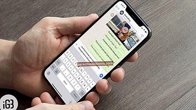 Kuinka kirjoittaa lihavoitua, kursivoitua, yliviivattua WhatsAppissa iPhonessa