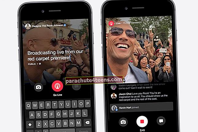 Kuidas voogesitada videot Facebookis iPhone'is / iPadis