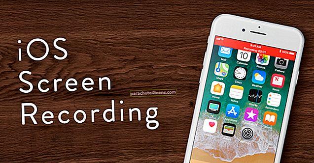 Kuidas salvestada ekraani iPhone'is, iPadis ja iPod Touchis