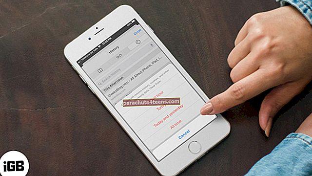Kuidas puhastada Safari vahemälu, ajalugu ja küpsised iPhone'is