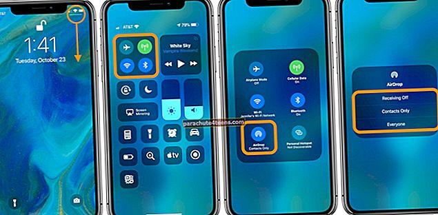Kuinka käyttää AirDropia iPhonessa ja iPadissa