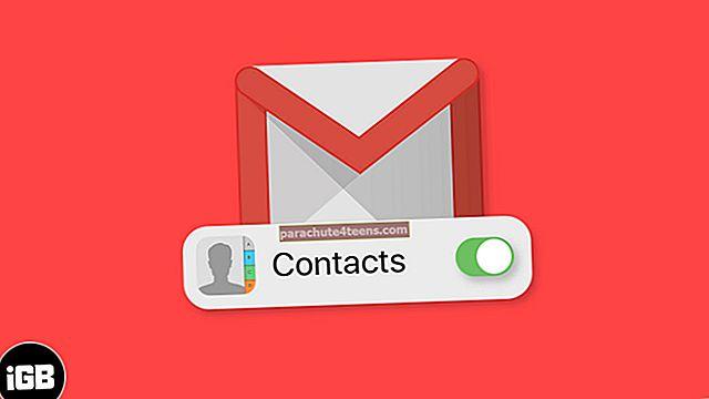Yhteystietojen synkronointi Gmailista iPhoneen tai iPadiin