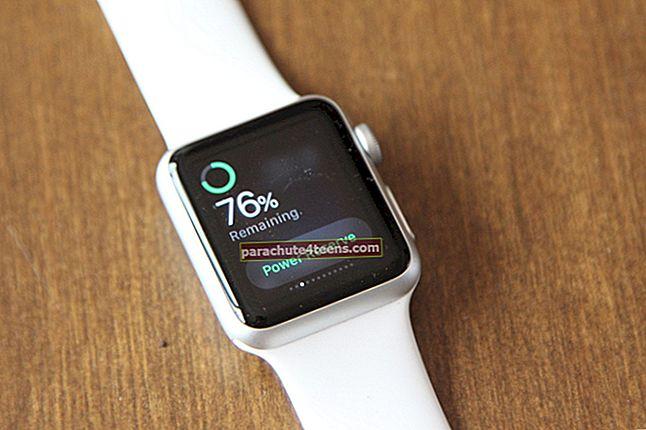 Virrankäyttötilan ottaminen käyttöön Apple Watchissa