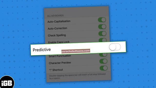 Cách tắt văn bản tiên đoán trên iPhone và iPad