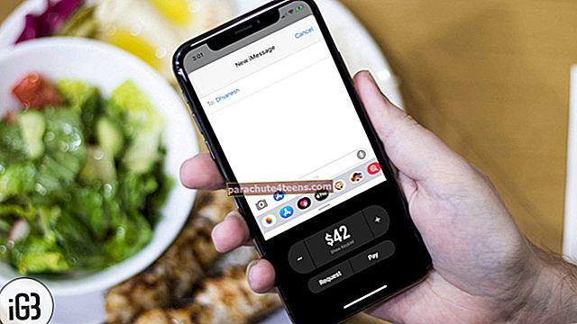 Kuinka lähettää ja vastaanottaa Apple Pay Cash -sovellusta iMessagen kautta iPhonessa